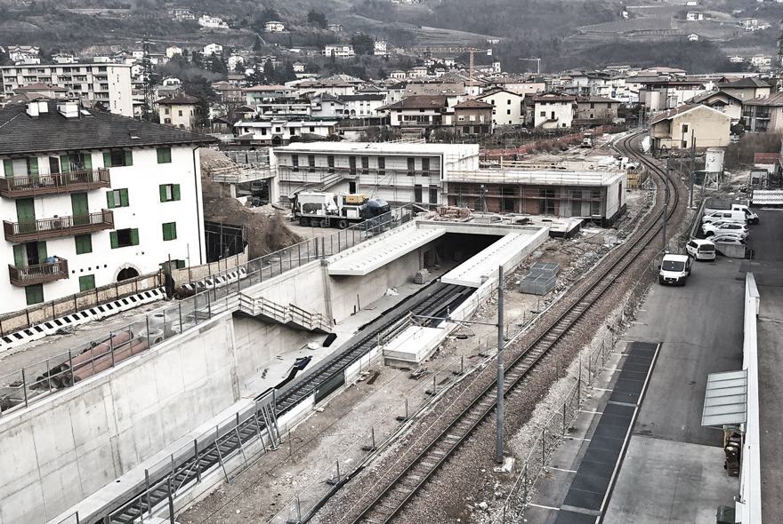 Trento – Malè Light rail train project