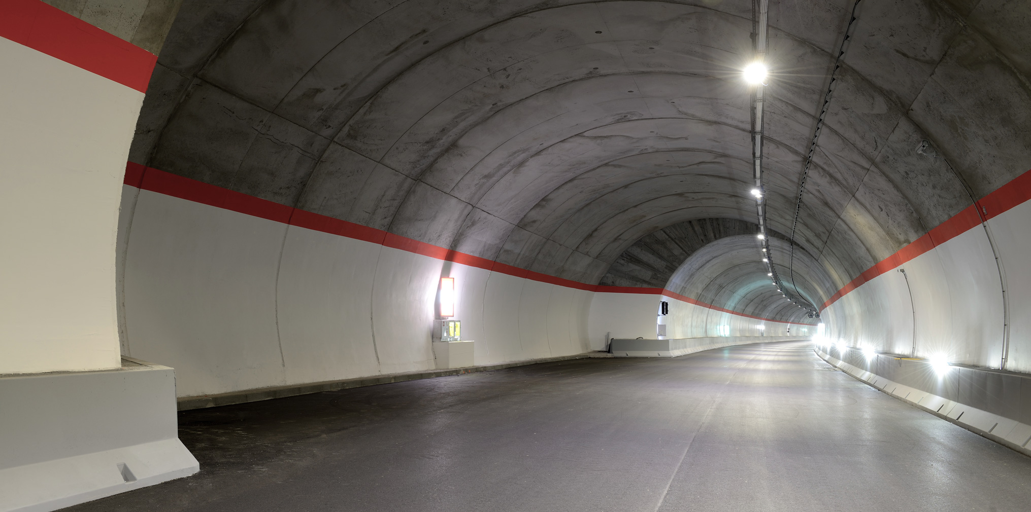 ss 237 del caffaro road tunnel during the testing phase