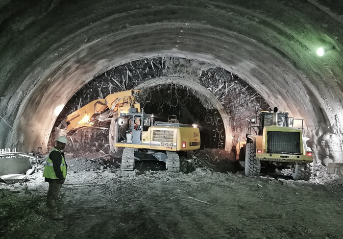 Excavation works start in T1 tunnel (Constantine, Algeria)