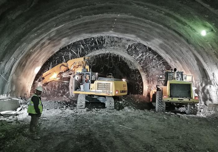 Excavation works start in T1 tunnel (Constantine, Algeria)