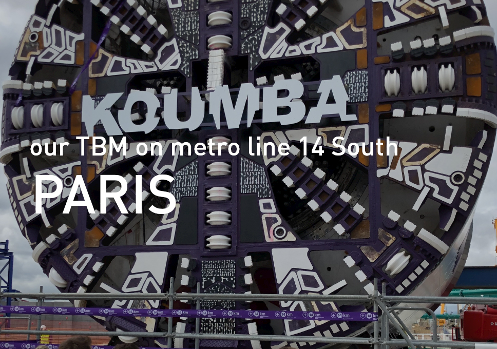 Koumba, our TBM on metro line 14 South, Paris
