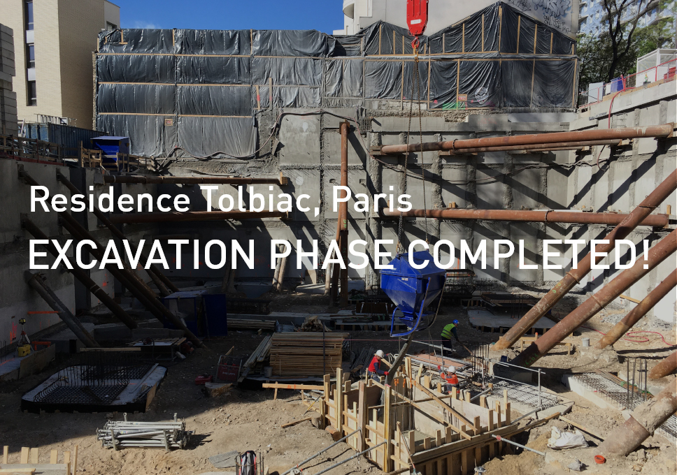 Residence Tolbiac, Paris – Excavation phase completed!