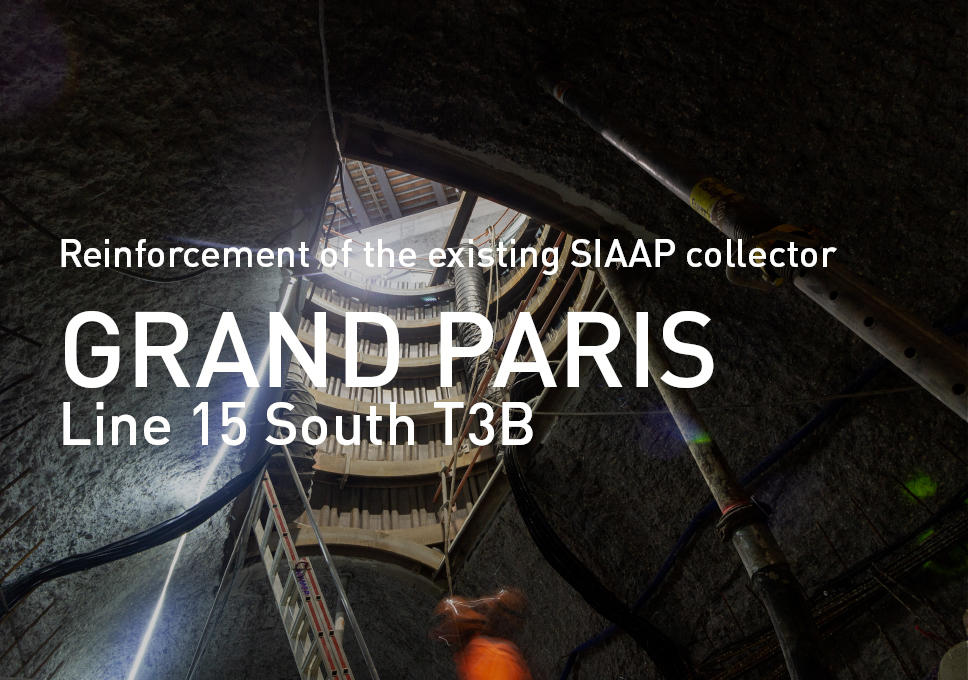 Grand Paris Line 15 South T3B. Reinforcement of the existing SIAAP collector