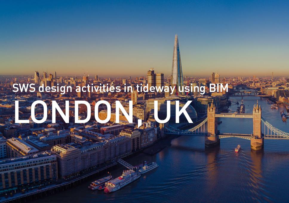 UK. London. Tideway project. SWS design activities in tideway using BIM.