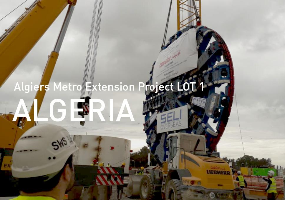 Algiers Metro Extension Project LOT 1El Harrach Centre-Bab Ezzouar – Algiers International Airport