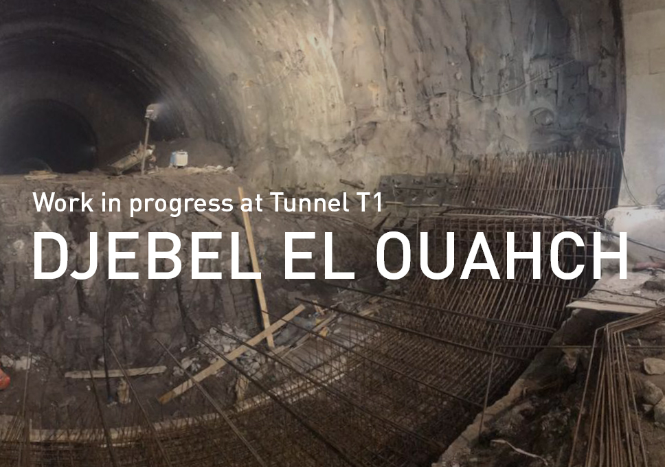 Work in progress at Tunnel T1 in Djebel El Ouahch, Algeria