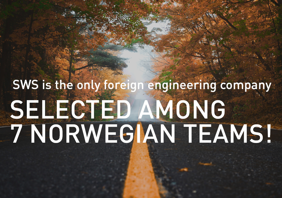 SWS is the only foreign engineering company selected among 7 Norwegian teams!