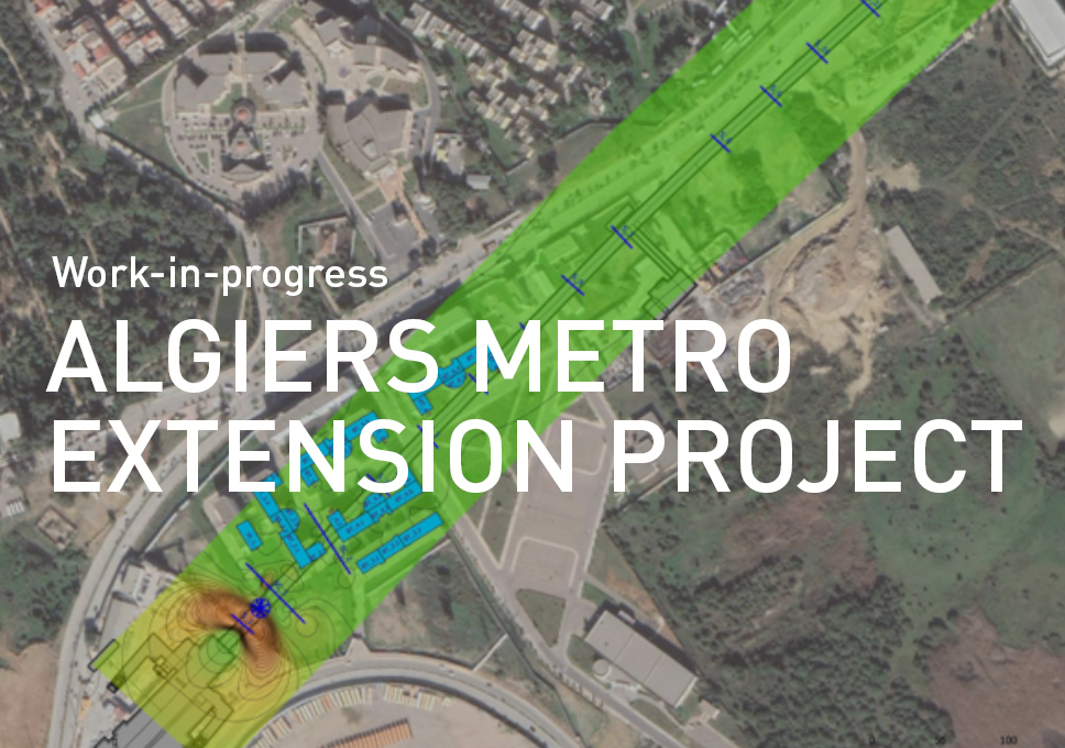 Work-in-progress on Algiers metro extension project