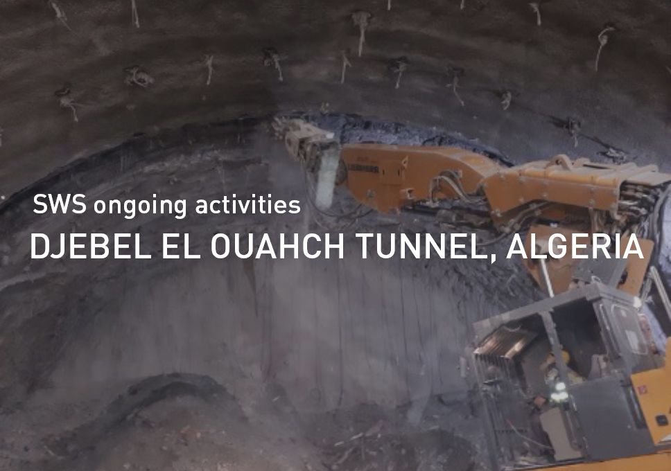 Djebel El Ouahch tunnel, Algeria. SWS ongoing activities.