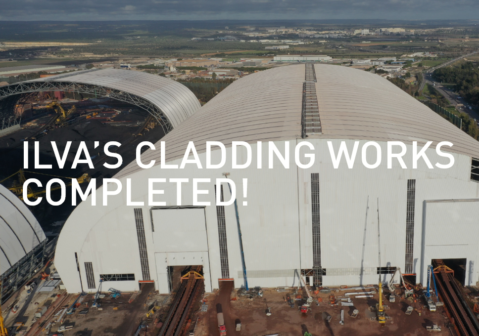 Cladding works of the biggest steelworks in Europe has been completed!