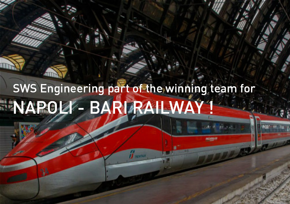 SWS Engineering part of the winning team for Napoli – Bari railway!