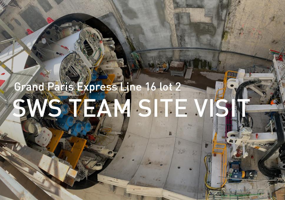 Grand Paris Express Line 16 lot 2, SWS team site visit
