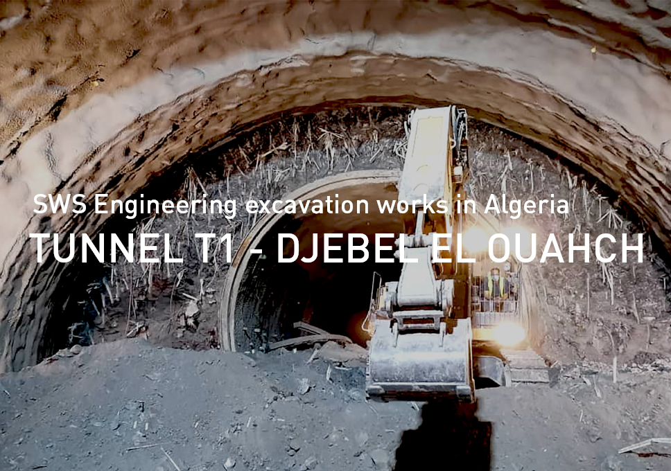 SWS Engineering excavation works on Tunnel T1 – Djebel el Ouahch, Algeria