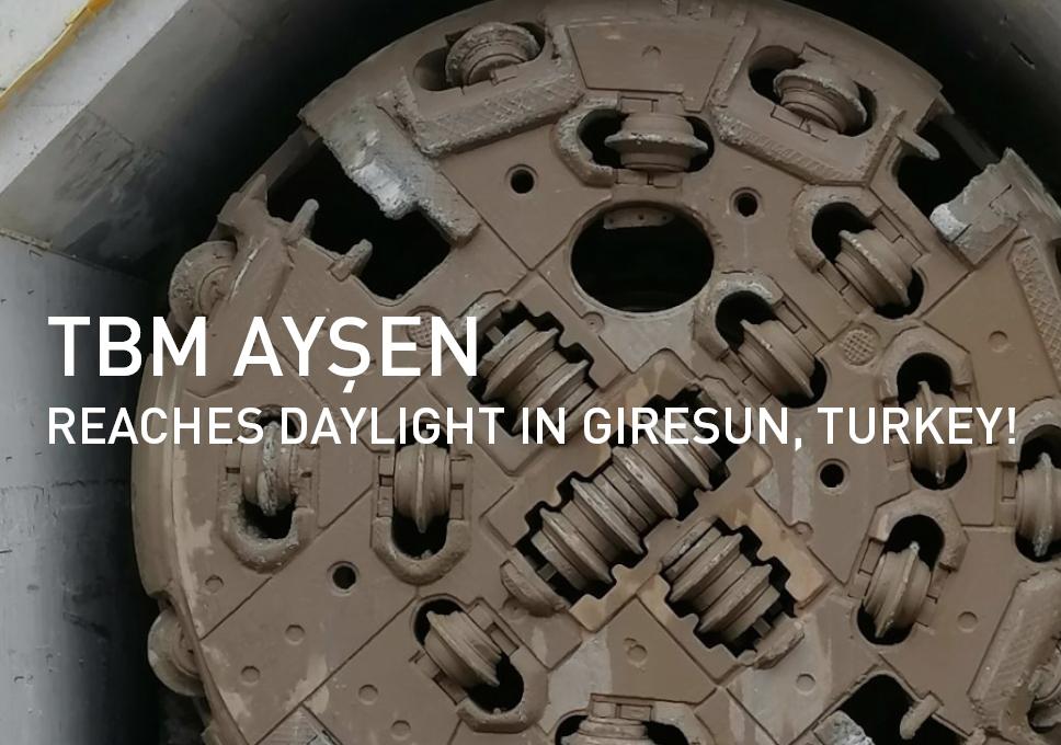 TBM Ayşen reaches daylight in Giresun, Turkey!
