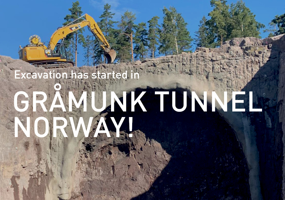 Excavation has started in Gråmunk Tunnel, Norway!