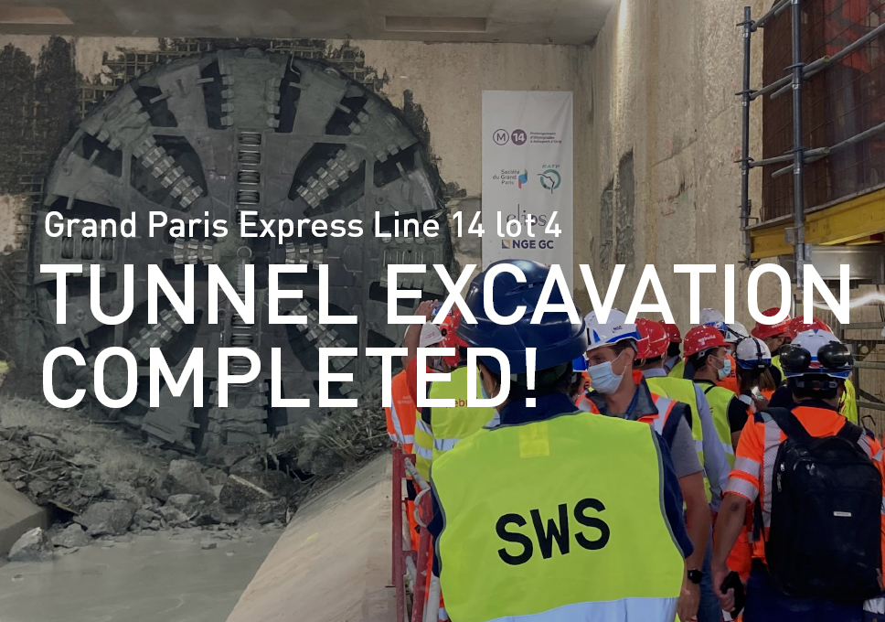 Grand Paris Express Line 14 lot 4 tunnel excavation completed!