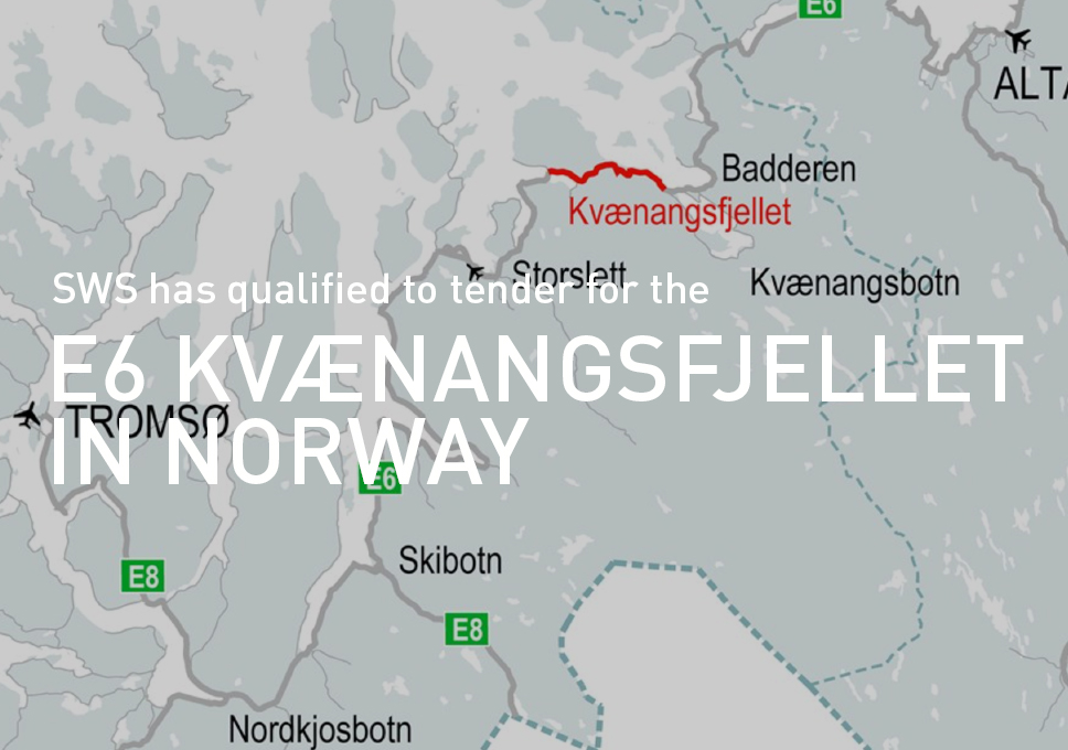 Another step forward in Norway! SWS has qualified to tender for the E6 Kvænangsfjellet.