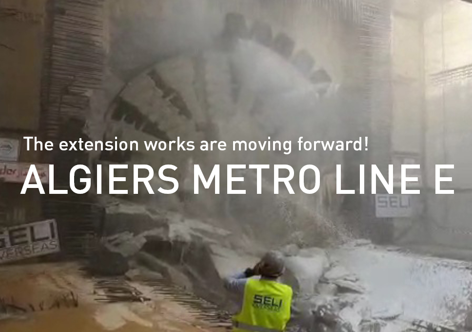 The extension works on Algiers metro line E are moving forward!