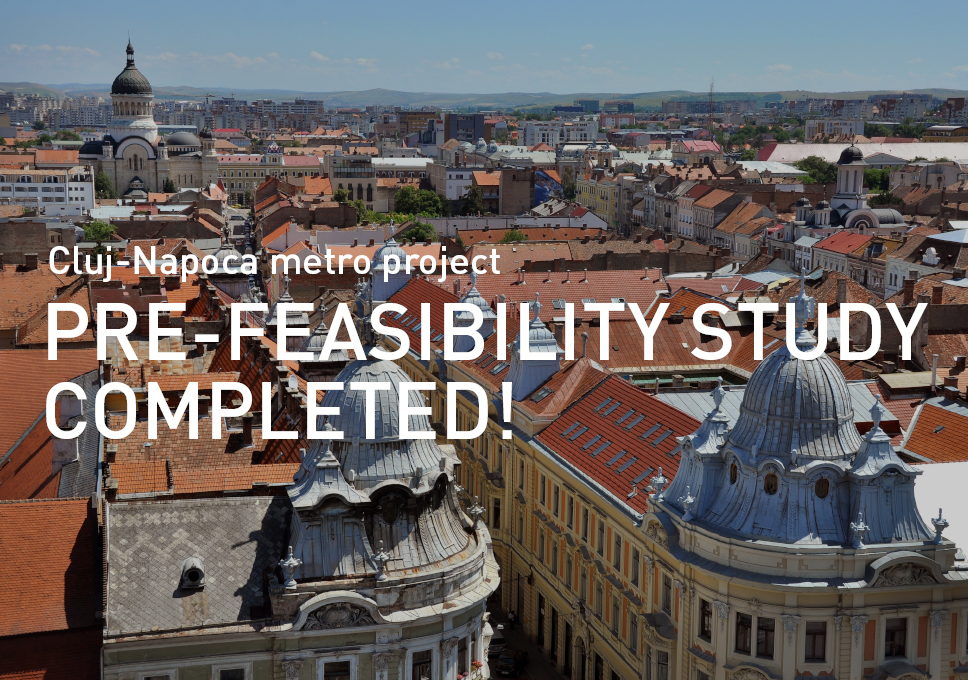 Cluj-Napoca metro project, pre-feasibility study completed!