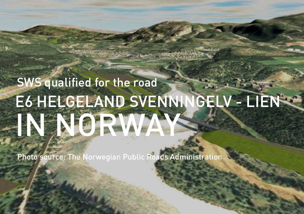 SWS qualified for the road E6 Helgeland Svenningelv – Lien in Norway!