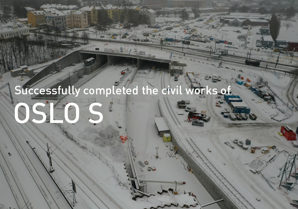 Successfully completed the civil works of Oslo S