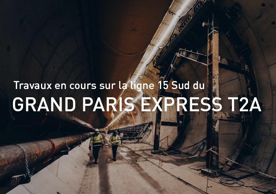 Travaux en cours sur la ligne 15 Sud du Grand Paris Express T2A