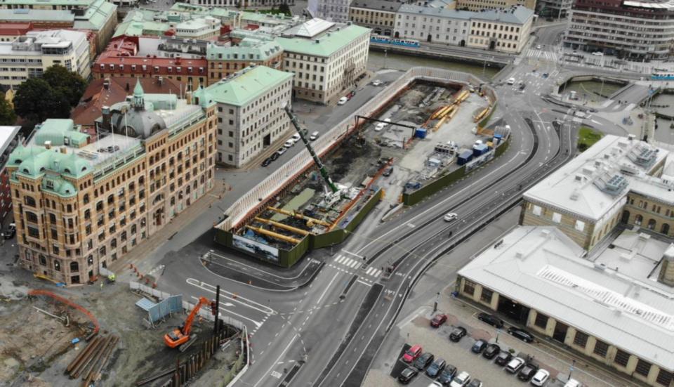 E03 Kvarnberget, West link Göteborg