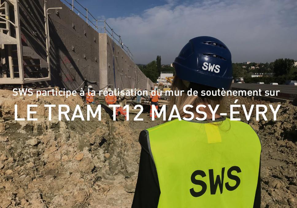SWS participe à la réalisation du mur de soutènement sur le Tram T12 Massy – Évry