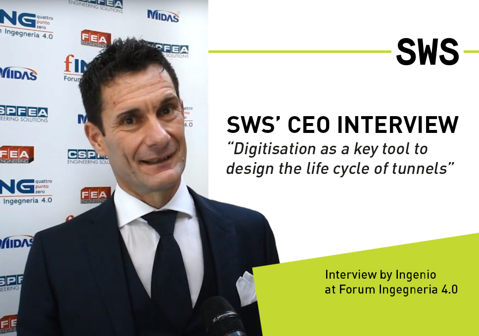"""SWS' CEO interview """"Digitisation as a key tool to design the life cycle of tunnels"""""""